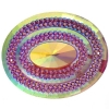 Glitz Sew-on Stone 10pcs Oval 40x50mm Pink Aurora Borealis